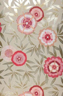 Wallpaper Sefina raspberry red Bahnbreite