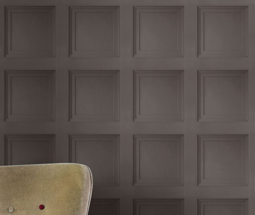 Archiv Wallpaper Avilio umbra grey Room View