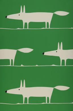 Papel de parede What does the Fox say verde Bahnbreite