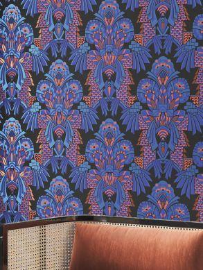 Papel de parede Demetrius azul Ver quarto