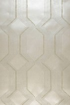 Wallpaper Xander Shimmering Geometrical elements Stripes Cream Beige Cream white glitter