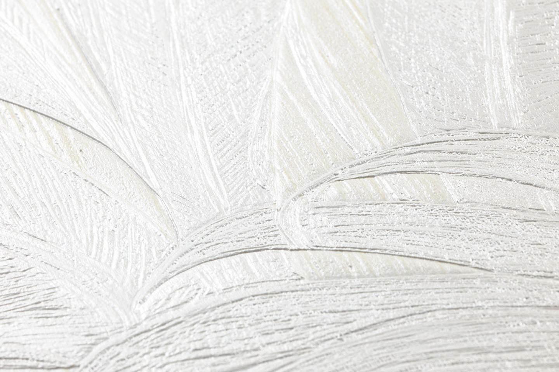 Carta da parati yasmin crema bianco crema carta da for Carta da parati anni 70