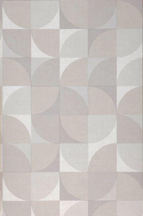 Carta da parati geometrica Carta da parati Junimo grigio beige Larghezza rotolo