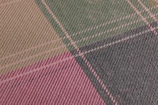 Papier peint Narses Mat Écossais Violet bordeaux Vert Brun acajou