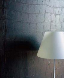 Papel de parede Croco 06 marrom escuro
