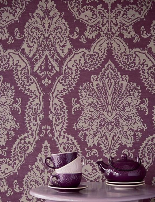 papier peint baroque violet. Black Bedroom Furniture Sets. Home Design Ideas