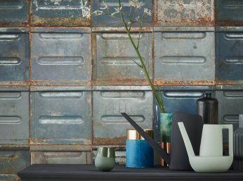Papel de parede Container azul acinzentado