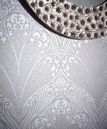 Wallpaper Astoria silver grey shimmer