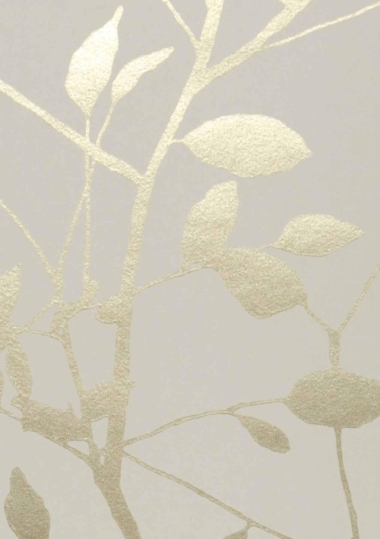 Tapete glorette grauweiss gold tapeten der 70er for Tapete nach hause
