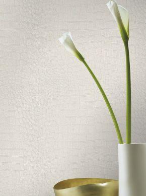 Carta da parati Reptile 03 bianco crema brillante Visuale camera
