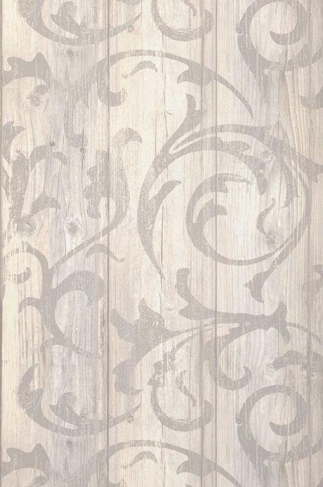 Archiv Papel de parede Medusa Wood marfim claro Largura do rolo