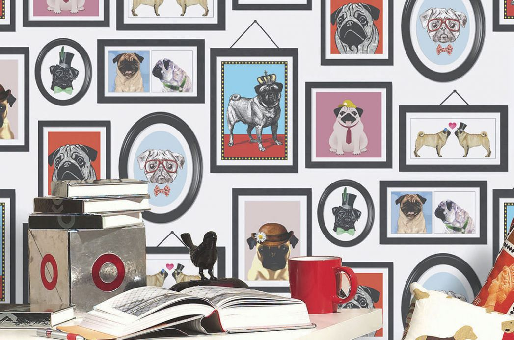 Animal Wallpaper Wallpaper Dogs Only Club red Room View