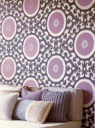 Papel de parede Aton violeta claro
