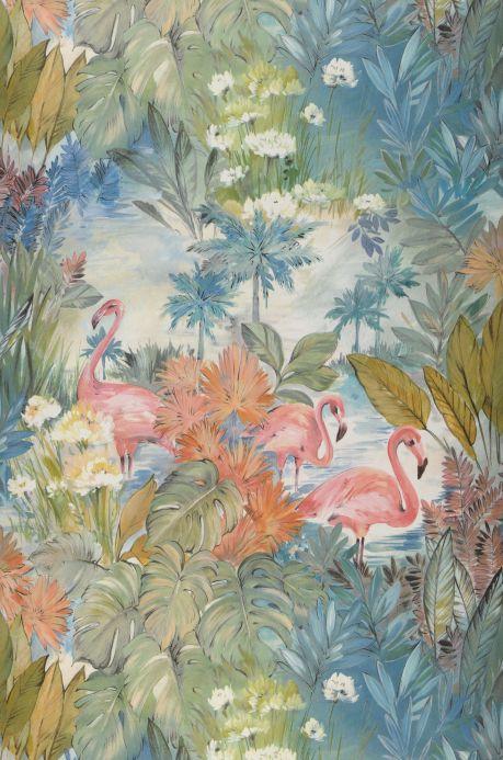 Papel pintado moderno Papel pintado Bahia azul turquesa Bahnbreite