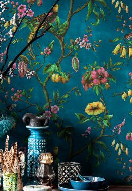 Papel pintado Camille azul océano Raumansicht