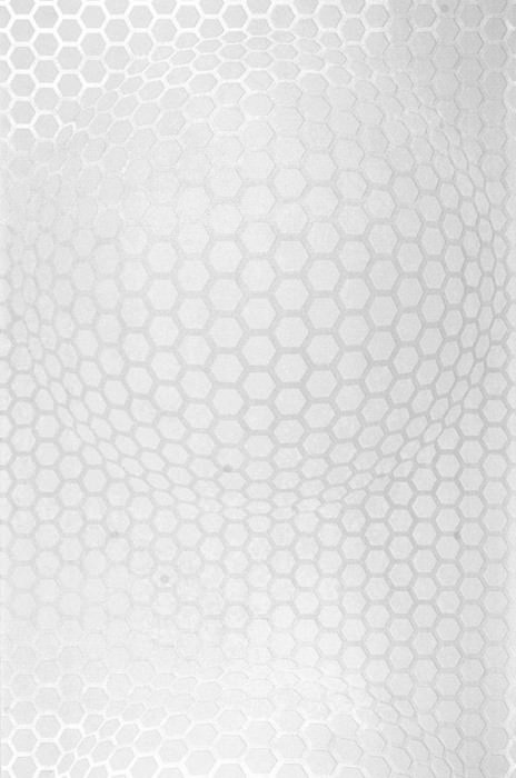 Wallpaper Hypnos Matt Honeycombs Cream pearl lustre White