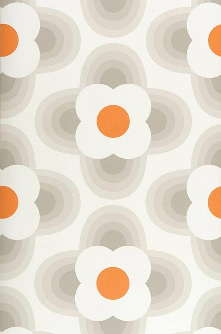 Papel pintado selene blanco crema beige gris ceo - Papeles pintados de los 70 ...