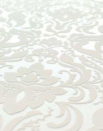 Papel pintado Sennin blanco crema