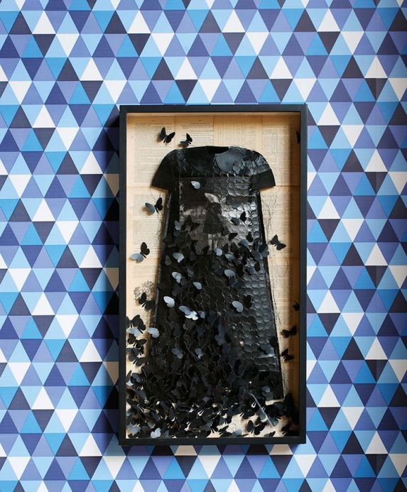 Archiv Tapete Pilatus Blautöne Raumansicht