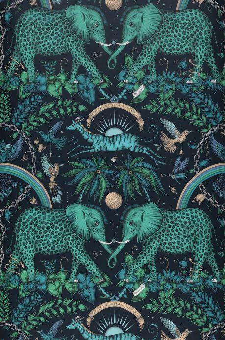 Oriental Wallpaper Wallpaper Kathmandu shades of green Bahnbreite