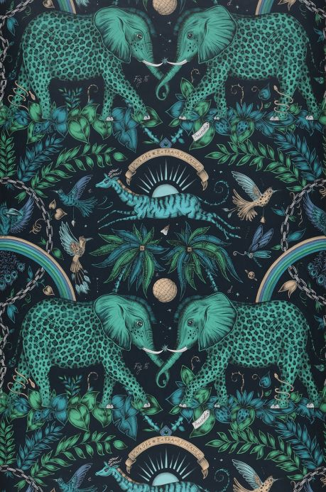 Turquoise Wallpaper Wallpaper Kathmandu shades of green Bahnbreite