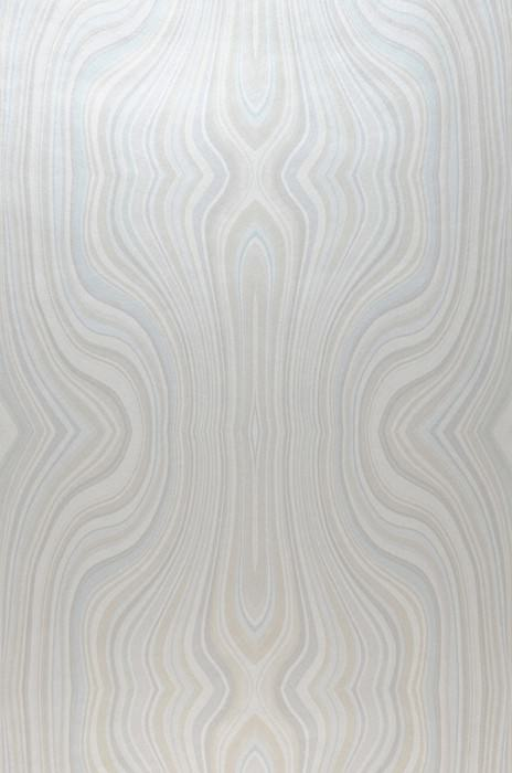 Wallpaper Mentana Matt Retro design Wavy pattern Beige Pale turquoise Cream Light silver grey