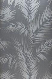 Papel pintado Aria gris plateado