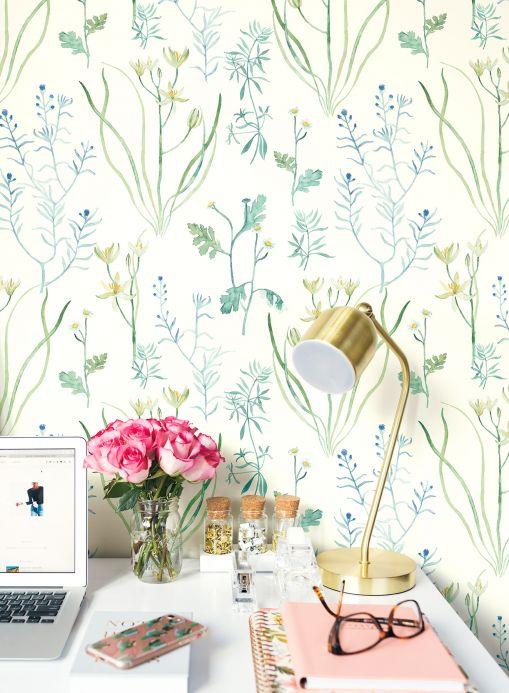 Wallpaper Wallpaper Sapin pea green Room View