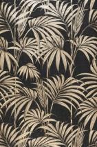Wallpaper Tatanu Shimmering Palm fronds Black-grey glitter Beige shimmer Black shimmer