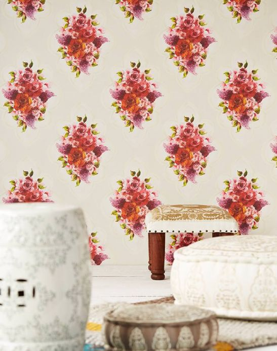 Archiv Wallpaper Malona red Room View