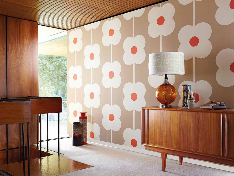 janus blassbeigebraun cremeweiss rot i love the 70s. Black Bedroom Furniture Sets. Home Design Ideas