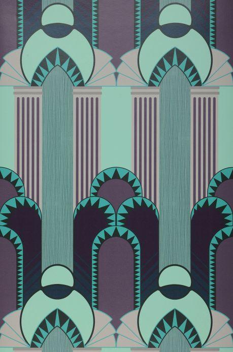 Papel de parede clássico Papel de parede Gatsby verde pastel Bahnbreite