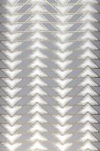 Papel pintado Fantaghiro Mate Triángulos Elementos gráficos Gris Oro perla Blanco