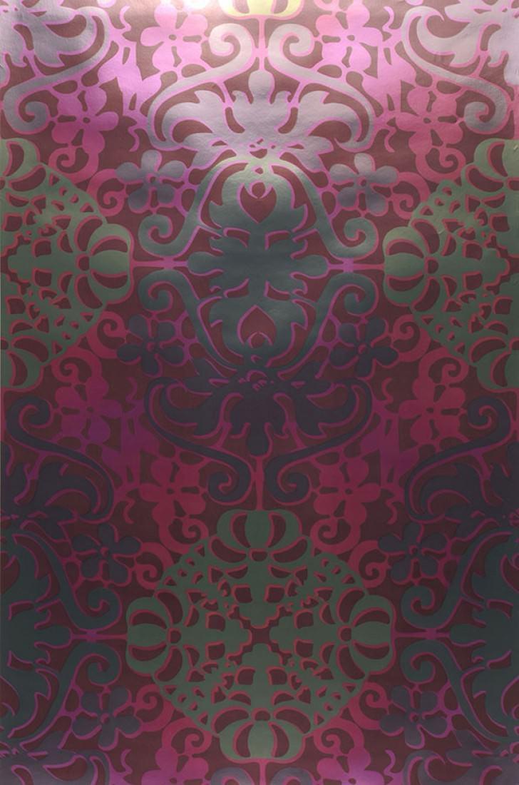 Tapete lavina weinrot erikaviolett perlgold rotviolett for Tapete weinrot