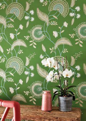 Wallpaper Suzanne grass-green Raumansicht