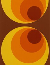 Papier peint Apollo Mat Cercles Brun Jaune Orange