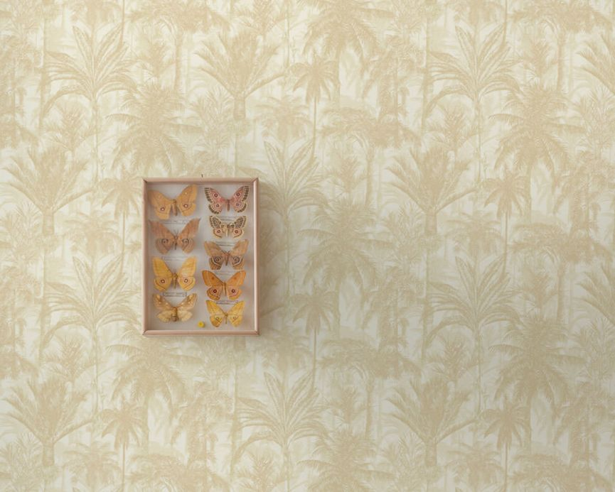 Archiv Wallpaper Desert Palms light grey beige Room View