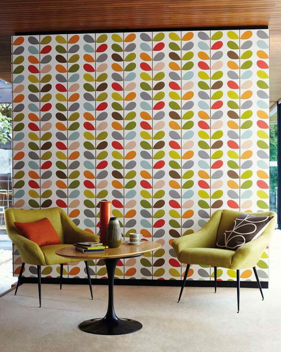 Ferm Living Wallpaper Wallpaper Osiris red Room View