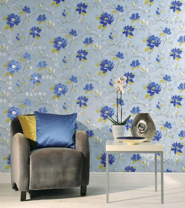 Archiv Wallpaper Miuba blue Room View