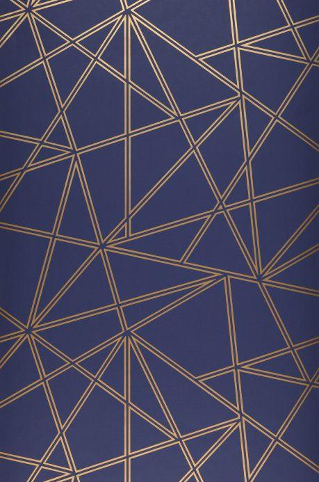 Papier peint géométrique Papier peint Habakuk bleu gris Largeur de lé