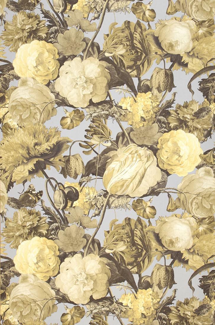 Carta da parati doriana grigio chiaro giallo pallido for Carta da parati avorio