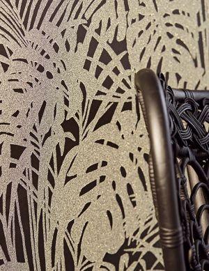Papel pintado Persephone negro Ver habitación