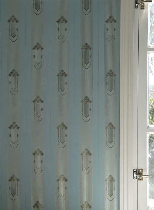 Classic wallpaper Wallpaper Valter light blue Room View