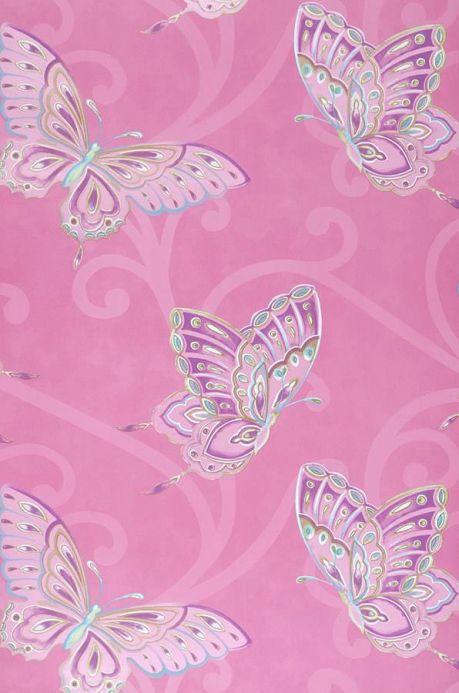 Archiv Papel pintado Butterfly violeta érica Ancho rollo