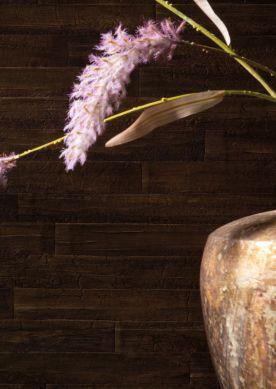 Carta da parati Water Hyacinth 03 marrone scuro Raumansicht