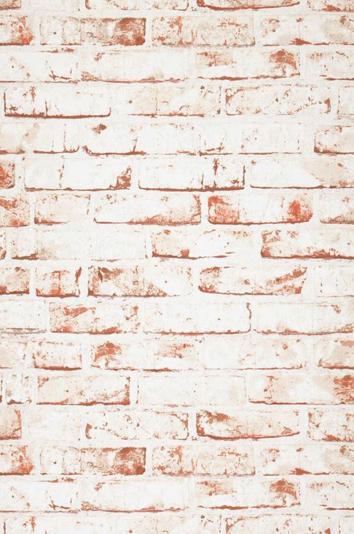 Papel Pintado Killa Blanco Blanco Parduzco Rojo Ladrillo