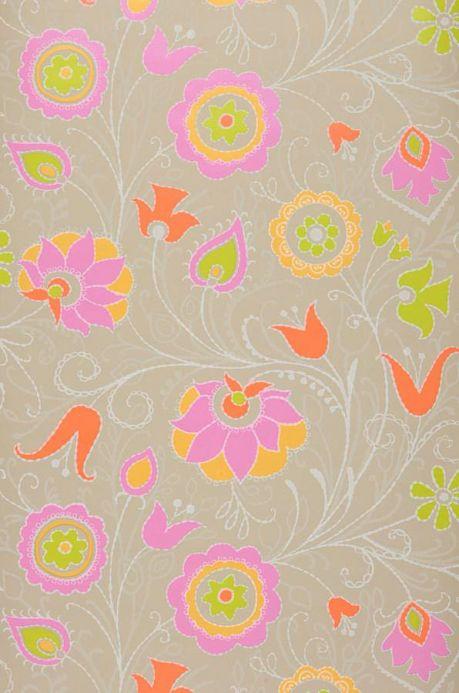 Archiv Papel de parede Flora rosa Largura do rolo