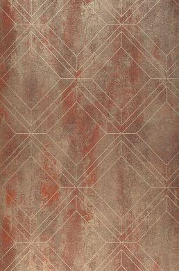 Wallpaper Malekid copper brown Roll Width
