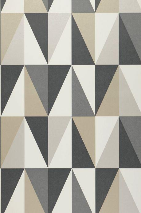 Papel pintado geométrico Papel pintado Lenus gris antracita Ancho rollo