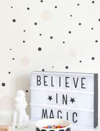 Carta da parati Confetti bianco crema